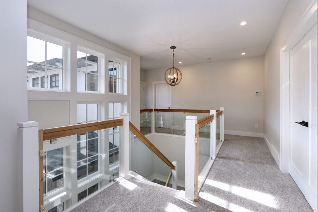 Third floor stairs and platform build by Stark Homes at 470 Rockview Lane