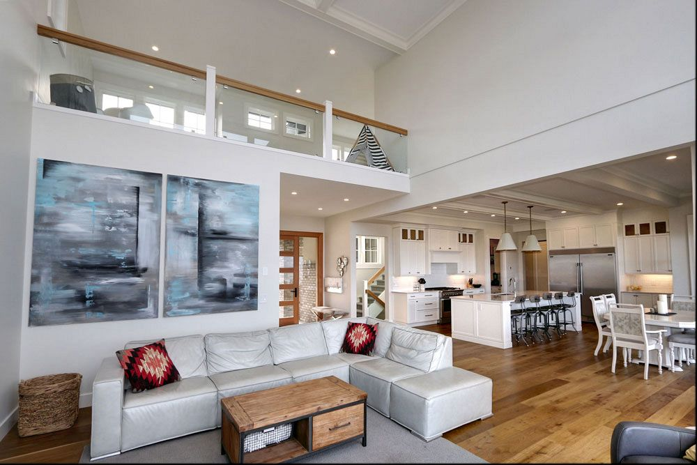 470 Rockview Lane living area, a custom home build by Stark Homes