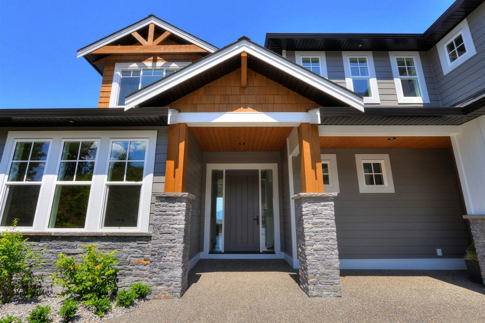 Front door and entryway view for 462 Rockview Lane by Stark Homes