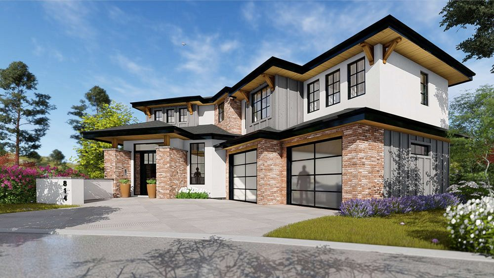 Front exterior view rendering of upcoming home build at 472 Rockview Lane