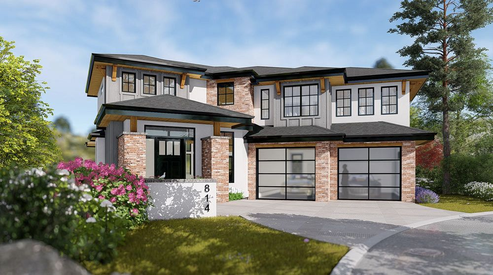 Custom home rendering for upcoming project at 472 Rockview Lane