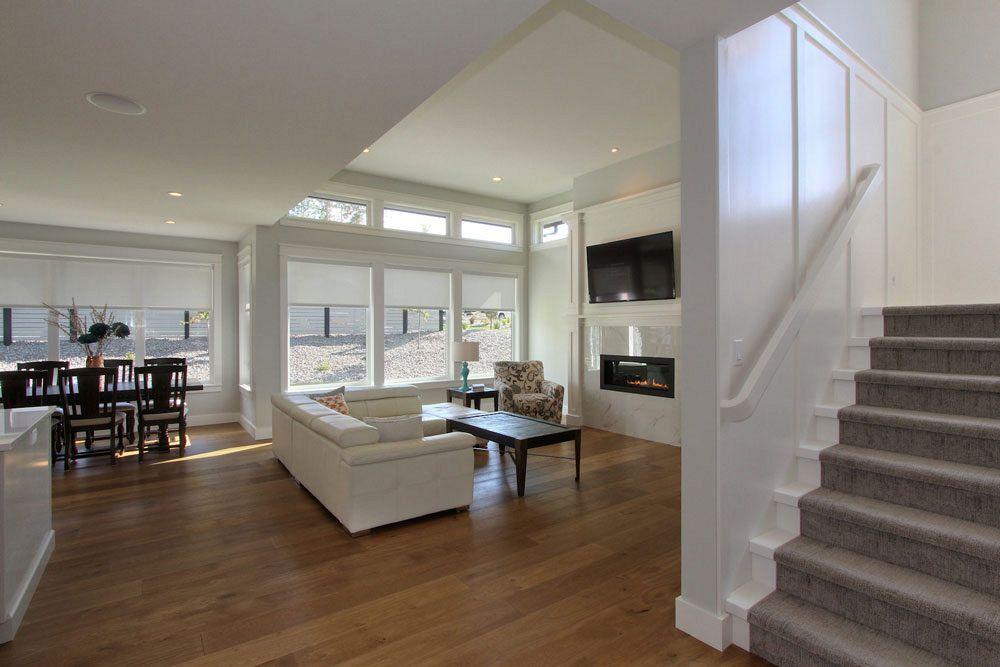 Closeup of custom living room at 447 Lakepoint Drive