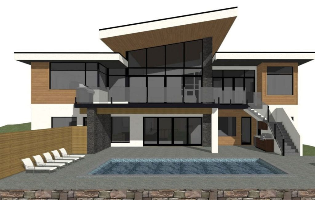 Rendering of Pinot Noir Elevations upcoming custom home build project