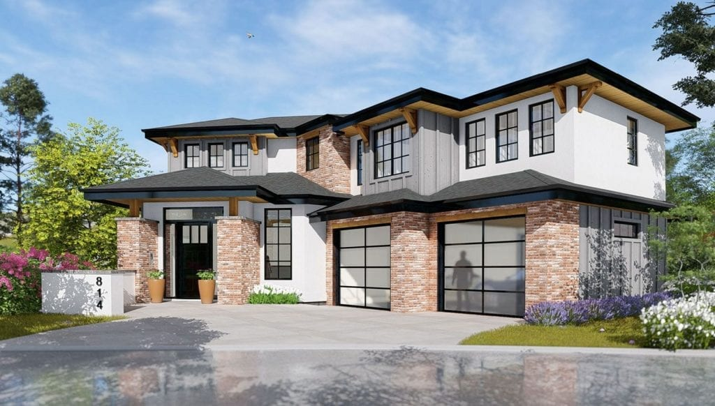 Custom home rendering of upcoming build at 472 Rockview Lane